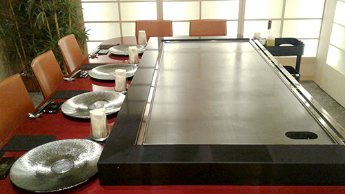 Construction Japanese Teppan Griddles For Commercial Use And - Teppan table